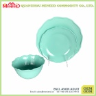 Popular new style eco-friendly green dinner set