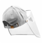 Wholesale Transparent Full Face Protection Detachable Adjustable Baseball Protective Cap with Face Shield