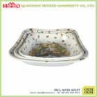 Different size for optional shallow melamine salad bowl